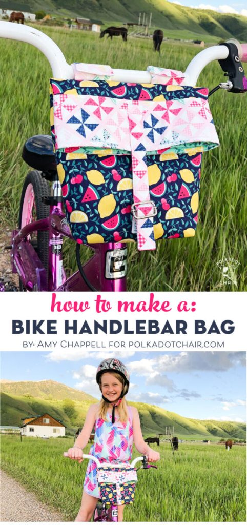 How to Make a Handlebar Bag by Amy at Ameroonie Designs for PolkaDot Chair.