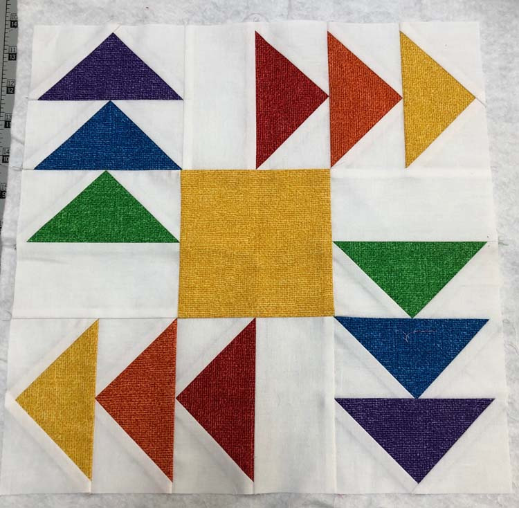 Use extra quilt blocks to audition quilt designs plus more ideas @ The Crafty Quilter