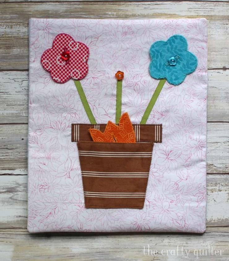 Button Flower Pot Busy Book page made by Julie Cefalu @ The Crafty Quilter