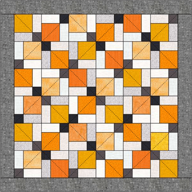 Quilting ideas for the Disappearing 9-patch quilt @ The Crafty Quilter.