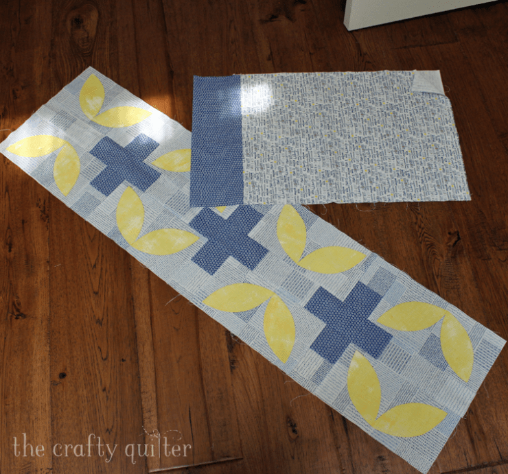 July UFO & WIP challenge project is a table runner that needs finishing @ The Crafty Quilter