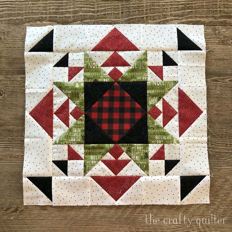 New quilt block made and designed by Julie Cefalu @ The Crafty Quilter