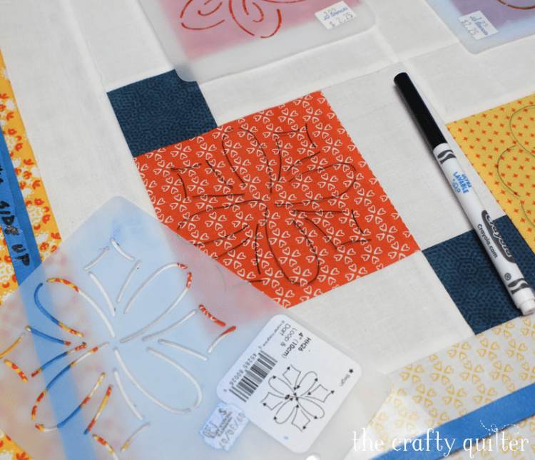 Use clear vinyl to audition quilt designs and more ideas @ The Crafty Quilter