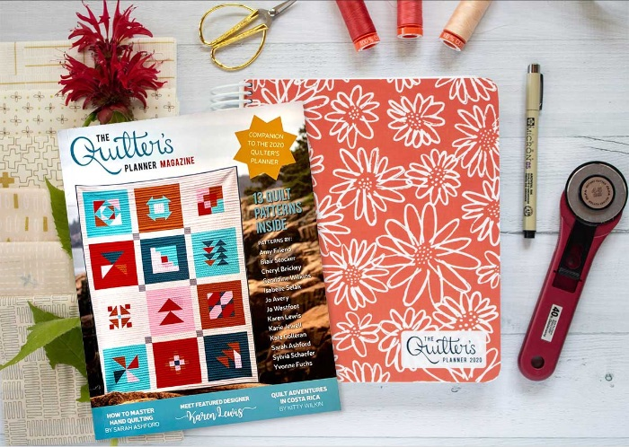 The Quilter's Planner for 2020 includes a magazine!