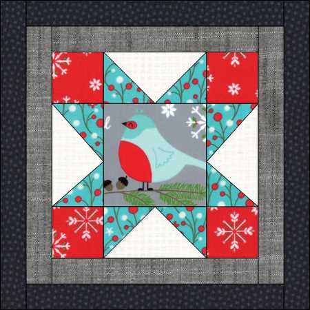 Happy Little Things, Block 1 made by Julie Cefalu.  Pattern designed by Jacquelnne Steves.