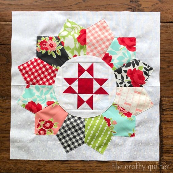 September's UFO & WIP project @ The Crafty Quilter is this lovely block from the pattern, Plain & Fancy by Coriander Quilts.