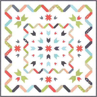Starstruck Quilt Along by Melissa @ Happy Quilting  and featured on The Crafty Quilter's Sew Thankful Sunday.