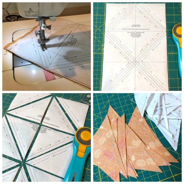 How to use Triangle Paper to make half-square triangles @ The Crafty Quilter.
