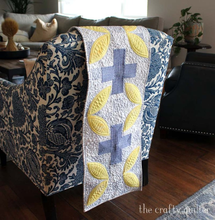 Modern Plus Petals Table Runner made by Julie Cefalu.  Pattern is from the book, Modern Plus Sign Quilts.