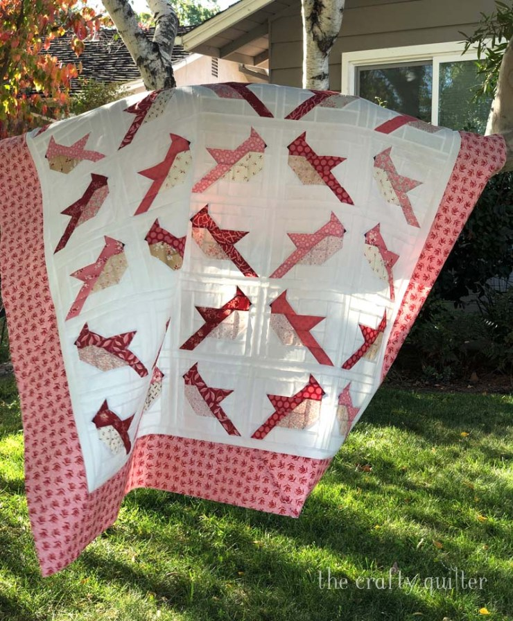 Cardinals quilt made by Julie Cefalu, pattern by The Pattern Basket