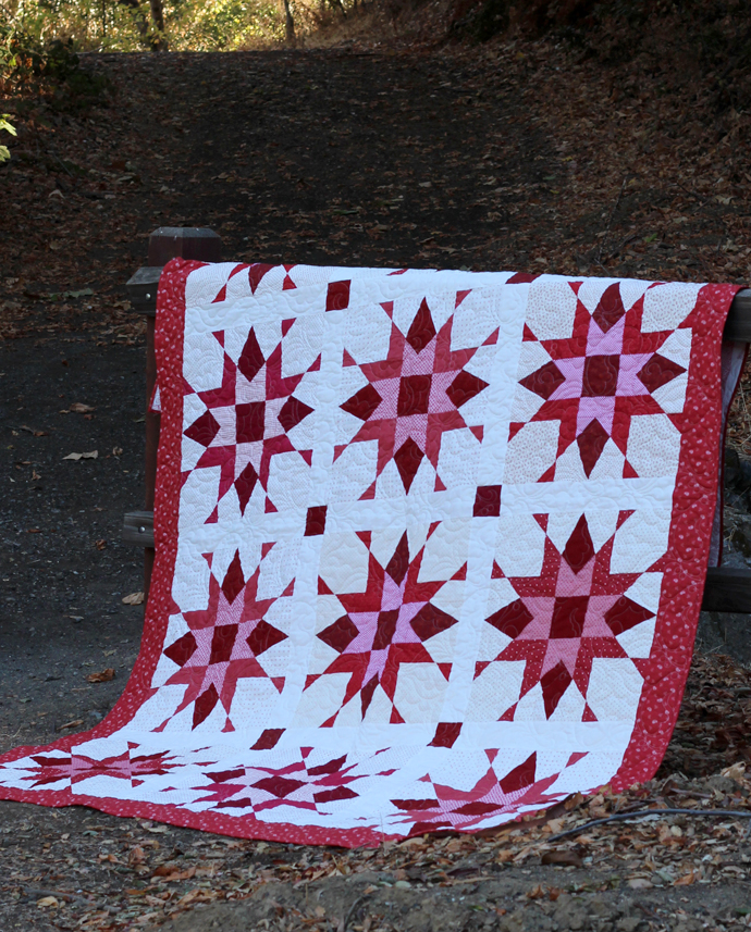 Franklin Star Pattern designed and made by Julie Cefalu @ The Crafty Quilter.  Pattern available on Etsy.