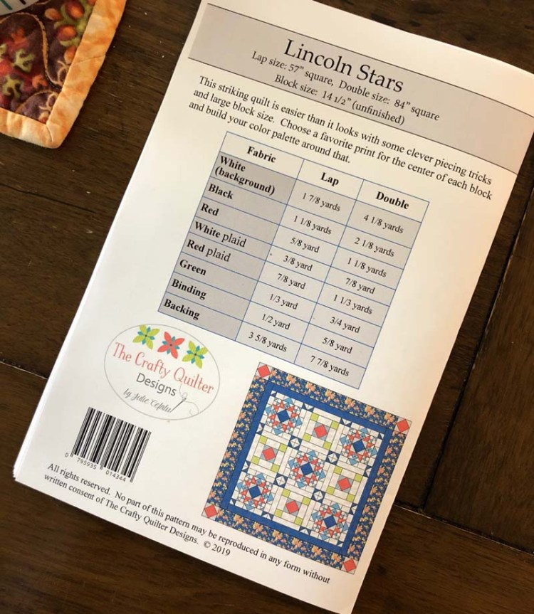 Lincoln Stars Quilt Pattern by Julie Cefalu @ The Crafty Quilter