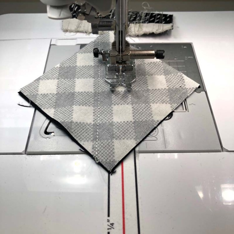 My new favorite tool for sewing s Diagonal Seam Tape by Cluck Cluck Sew.