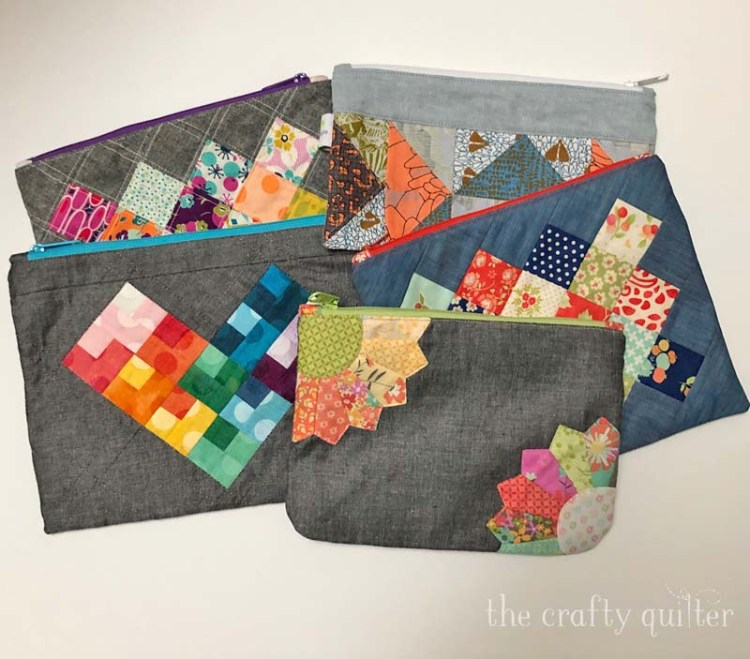 Pouches made by Julie @ The Crafty Quilter