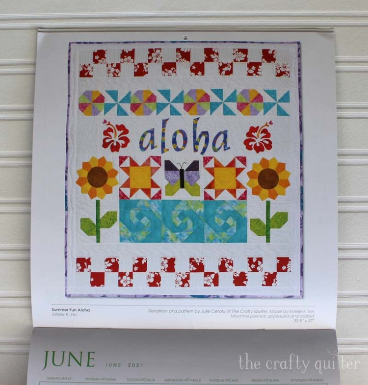 Summer Fun Aloha Quilt made by Estie Inn.  Pattern designed by Julie Cefalu @ The Crafty Quilter