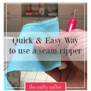 Quick & Easy way to use a seam ripper. Includes a video!