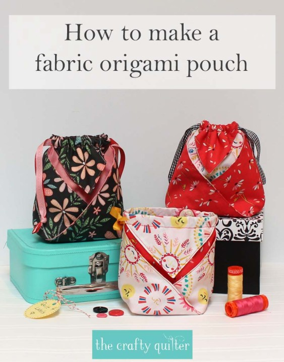 Fabric Origami Pouch Tutorial & Video