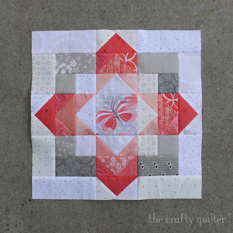 New BOM blocks.  Block 1, row 1 of the Safe at Home Quilt .  Made by Julie Cefalu, designed by Sara at Modern Handmade.