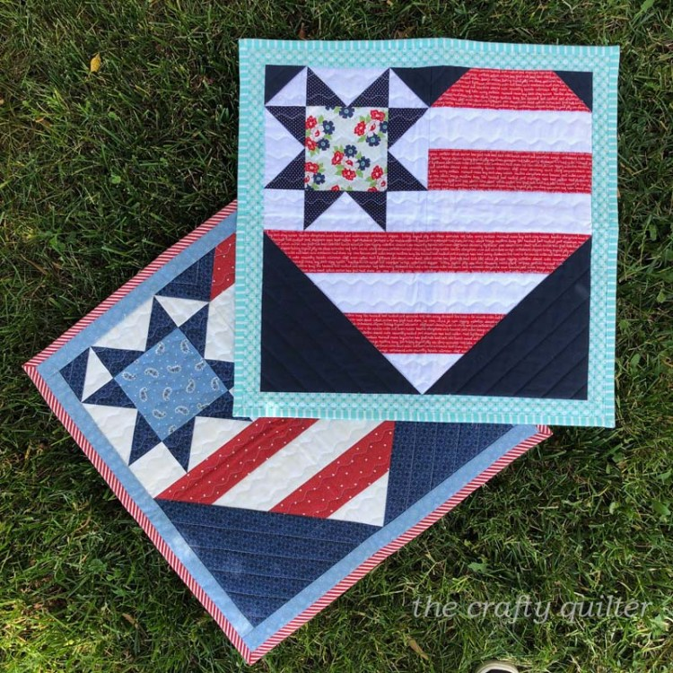 Star Spangled Heart wall hanging made and designed by Julie Cefalu @ The Crafty Quilter.
