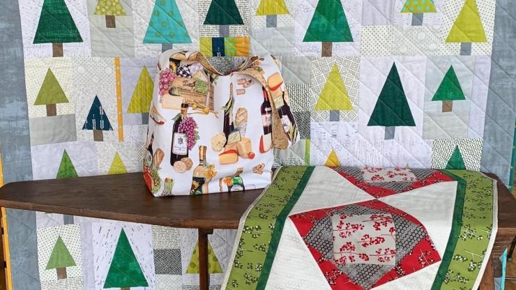 Jumpstart on Christmas 5-day sew along from Modern Handmade is a sew along for fire victims of the CZU Lightening Complex in California.  100% of proceeds go towards getting a  new handmade quilt into the hands of a fire victim.