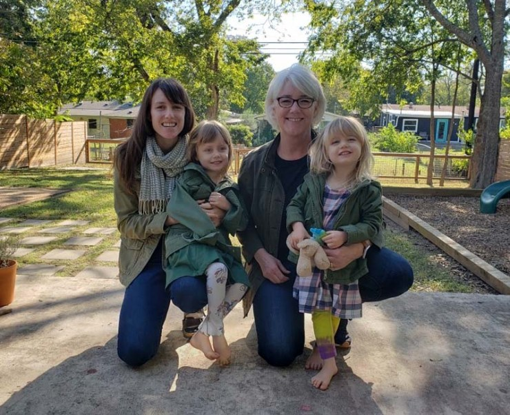 Kelly, Amelia, Julie and Clara - October 2020