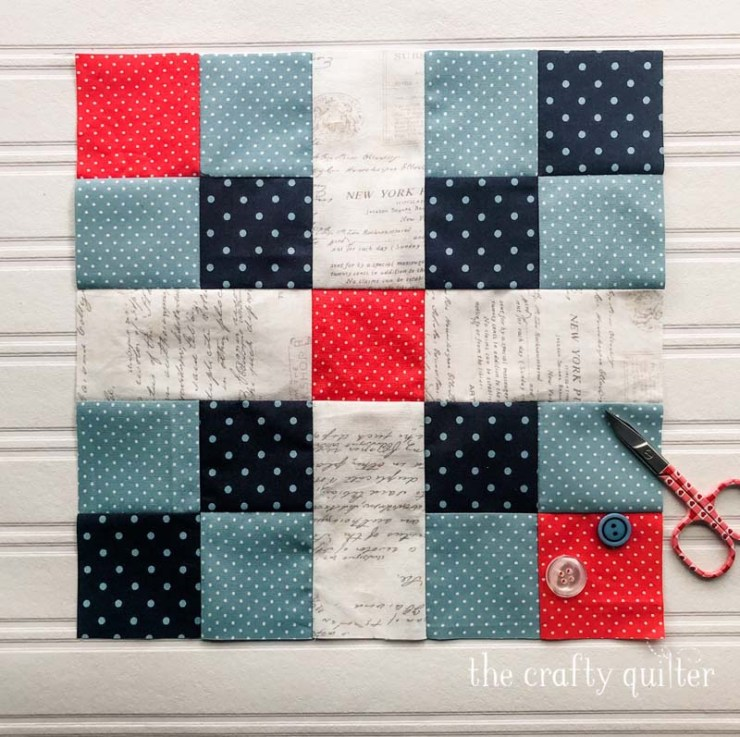 First quilt block in the Possibilities Quilt, designed and made by Julie Cefalu @ The Crafty Quilter