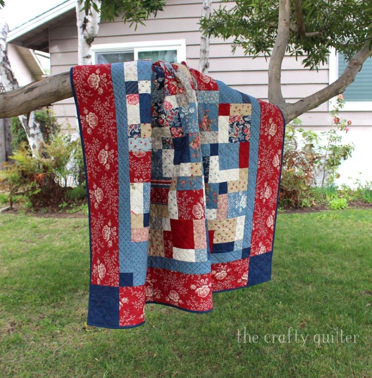 Disappearing nine patch quilt made by Julie Cefalu @ The Crafty Quilter