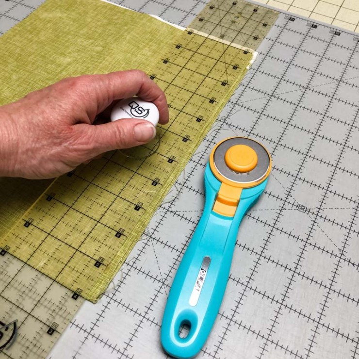 New quilting discoveries include the Select Ruler Handle for Quilter's Select Rulers.