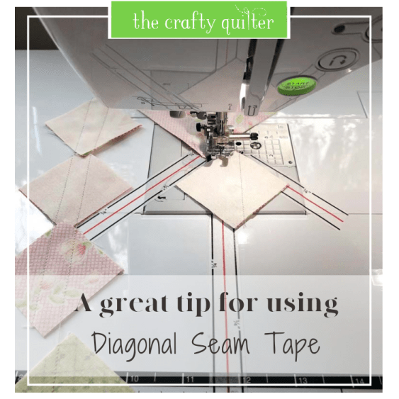 Tips for using Diagonal Seam Tape at The Crafty Quilter