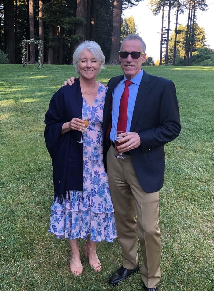 Julie & Allen Cefalu on May 7, 2021 in Woodside, California