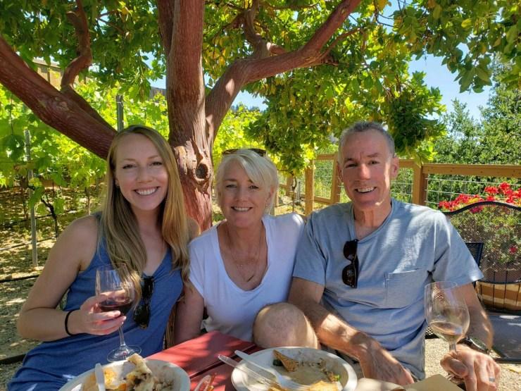 Sara, Julie & Allen at Regale Winery, June 2021