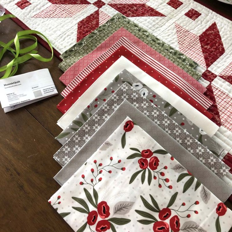 Christmas Morning fabric by Lella Boutique for Moda Fabrics would be perfect for the Nordic Star Table Runner.