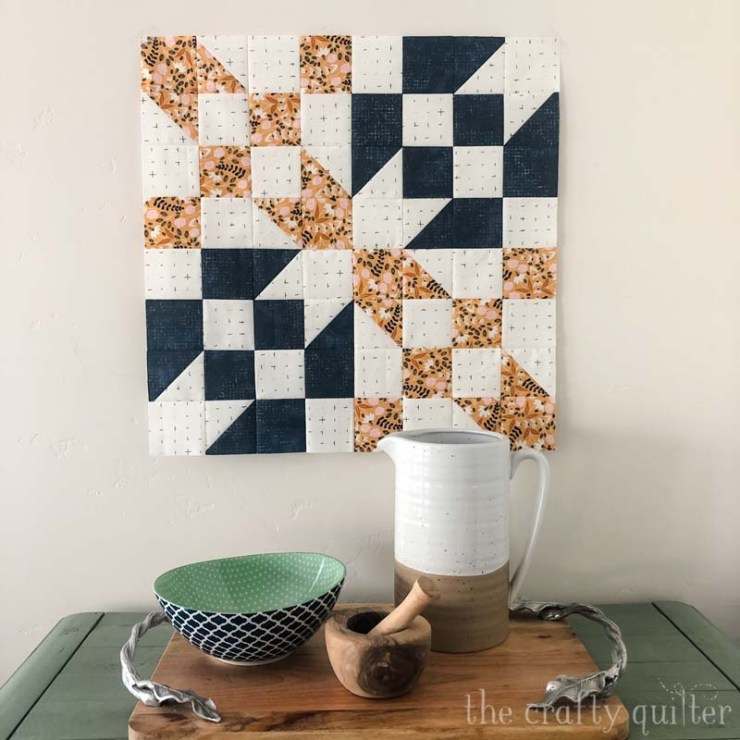 Road to Oklahoma Quilt block made by Julie Cefalu @ The Crafty Quilter.  Free Pattern by Fat Quarter shop