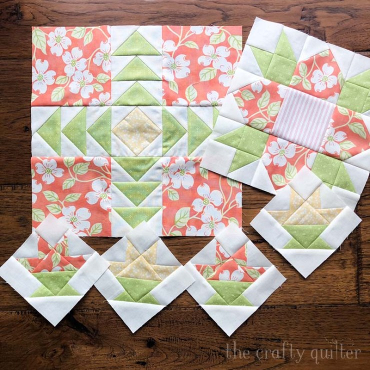 WIP's include this Strawberry Garden Mystery BOM from Fig Tree Quilts.
