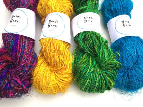 Silk Sari Yarn by Yarn Yarn Recycled yarn