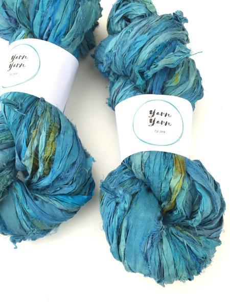 Recycled Sari Ribbon Recycled yarn