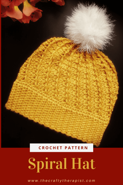 Pin Graphic Spiral Hat crochet pattern by Janferie MacKintosh