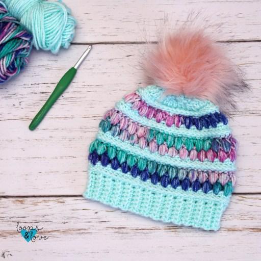 free crochet hat pattern Jellly Beanie