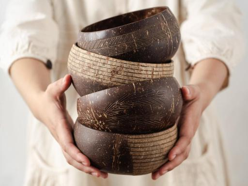 Sustainable beautiful coconut bowls eco friendly gift ideas