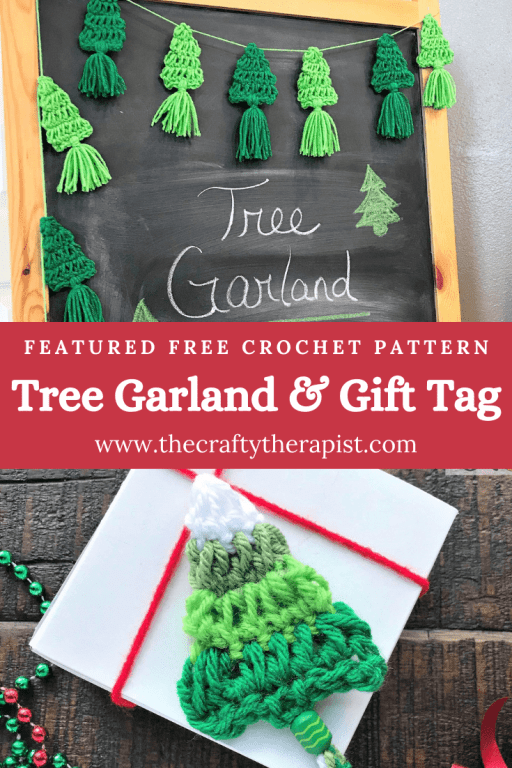 Tree Garland Christmas decoration Free Crochet Pattern