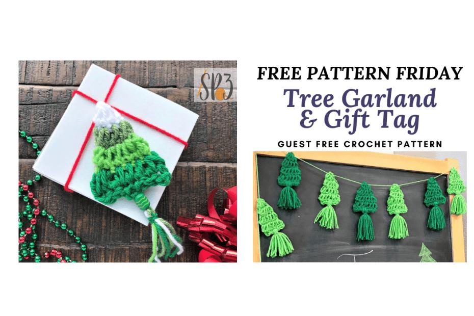free crochet pattern Tree Garland Christmas decoration