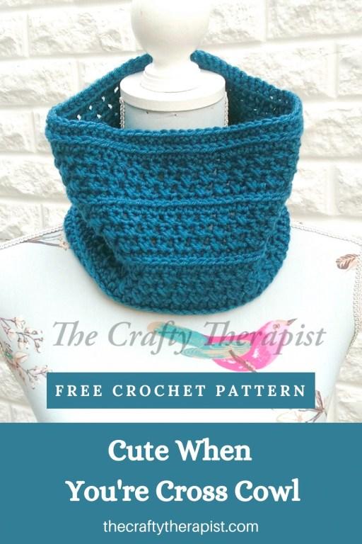Cowl Crochet Pattern Pinterest graphic