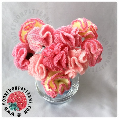 flowers mother's day crochet gift