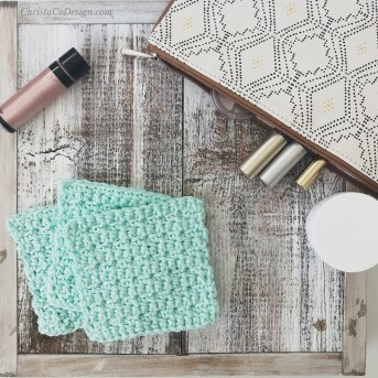 Face scrubbie crochet gift idea