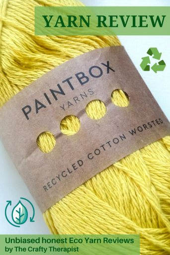 Pinterest graphic Paintbox recycled cotton yarn review