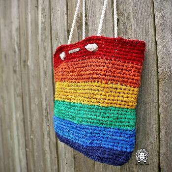 Rainbow bag - eco crochet ideas