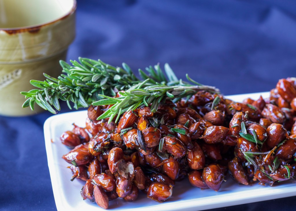 Healthy Snacks: Maple Rosemary Almonds Journey to the Garden