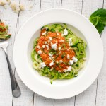 Roasted Red Pepper Alfredo with Zoodles