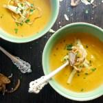Cheesy Sweet Potato Soup
