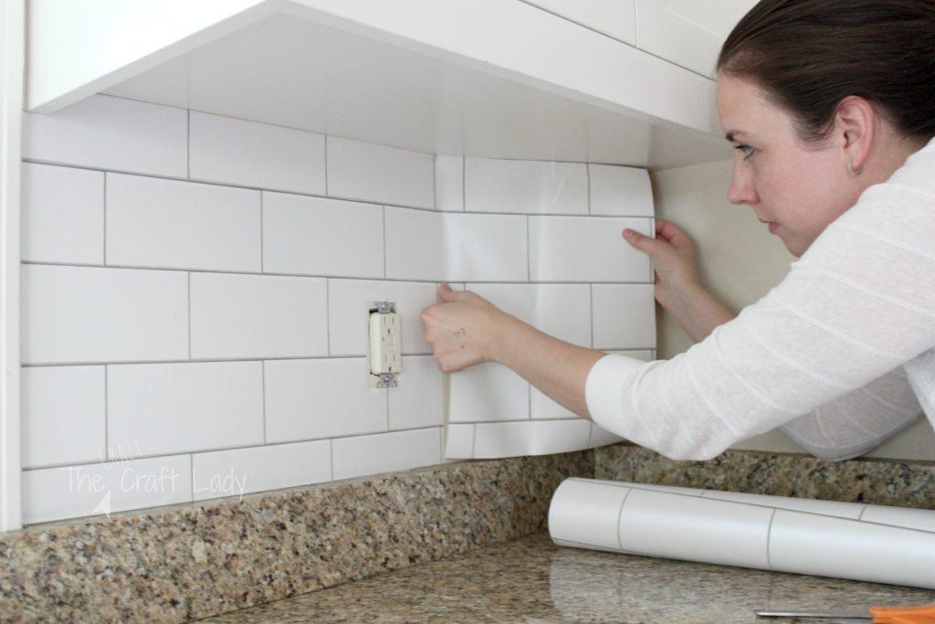 contact paper backsplash kitchen